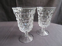 Fostoria American Footed 9 oz Goblets - 5 1/2 in tall (Set of 2)