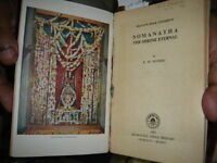 INDIA RARE - SOMANATHA THE SHRINE ETERNAL K. M. MUNSHI 1965 PAGES 179 #