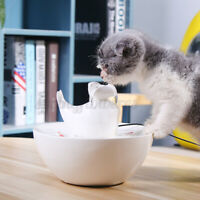Cat Water Dispenser Pet Fountain Dog Drinking Bowl Automatic Circulation Feeding