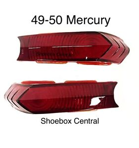 1949 1950 Mercury Tail Light Lenses Pair NEW
