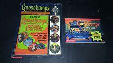 GOOSEBUMPS POSTCARD BOOK & COLLECTOR'S CAPS - R.L. STINE