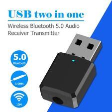 Kabellos USB Bluetooth 5.0 Dongle Adapter Musikempfänger Sender für Auto PC TV