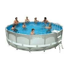 Intex 18ft x 48in Prism Frame Above Ground Swimming Pool Set with Pump/ Ladder