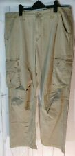 "B Vintage Lightweight Kharki Pants Great Looking Multi Pockets 36"" Regular"