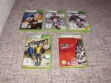 5 GIOCHI XBOX 360 FIFA 13 FIFA 14 FIFA STREET 3 PGR 4 formula 2010 nel pacchetto!