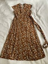 And Other Stories Floral Midi Wrap Dress UK14 Eur42 Los Angeles