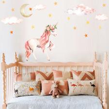Stars Moon Cloud Unicorn Art Wall Sticker Kids Room Girls Bedroom Decals Decor
