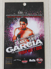 "Boxing - Danny ""Swift"" Garcia - All Access Laminate pass 2010"