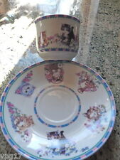 HUMANE SOCIETY INTERNATIONAL  SMALL CUP & SAUCER  DEPICTING  CATS