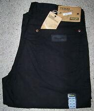 WRANGLER jeans Texas NERO black stretch Denim Cotone Leggero W33L34