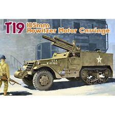 Dragon 6496 T19 105 Mm Howitzer Motor Carro 1/35 escala kit plástico modelo