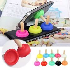 Mini Plunger Holders Sucker Stand For Cell Phone i Phone i Pod PSP 5 4 colours