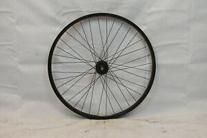 """A-Rim DM-30 26"""" Front MTB Bike Wheel & Hub Black OLW100 24mm 36S AV Disc Charity"""