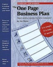 The One Page Business Plan: Start with a Vision, Build a Company!-ExLibrary