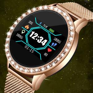 LIGE Ladies SmartWatch Women Fashion Sport Heart Rate Fitness Tracker waterproof