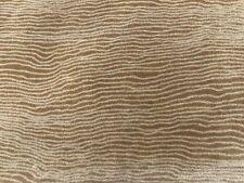 Larsen Wavy Line Velvet Upholstery Fabric- Clearwater / Bamboo 2.65 yds 9508-01