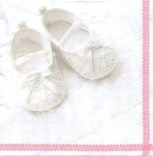 2 Serviettes en papier Naissance Chaussons - Paper Napkins Baby