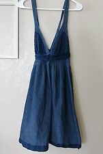 DALLIN CHASE Denim Overall  Babydoll Style Empire Dress Size 8