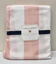 """New Pottery Barn Teen Emily & Meritt Circus Stripe Bed Skirt~Full~18"""" Drop~Blush"""