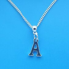 """1 x Silver Plated 18"""" Letter A Necklace Alphabet Initial"""