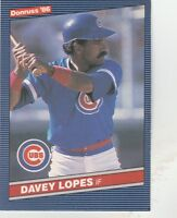 FREE SHIPPING-MINT-1986 Donruss Chicago Cubs  #388 Dave Lopes