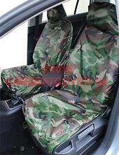 Nissan Navara - GREEN Camouflage Waterproof Van Seat Covers - 2 x Fronts