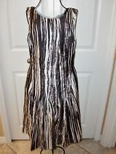 NWOT~GORGEOUS~ITALY~OSCAR DE LA RENTA~100%Silk Lined Sleeveless Dress size 4