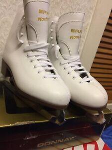 "GRAF -MONTREAL— WOMEN —- ICE —- SKATES -BOOT -SIZE—  U.K — 7""—EUR - 41""—— US -7"""