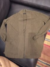 REDUCED!  J. CREW Collection Italian cashmere  open cardigan Sweater Olive Green