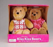 Hallmark Limited Edition Musical Kiss Kiss Bears All You Need Is Love Song New!