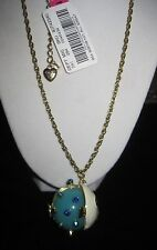Betsey Johnson Shell Shocked large blow fish long necklace