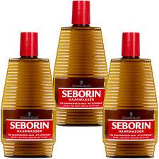 Schwarzkopf Seborin Haarwasser 3x 400 ml für schuppenfreies Haar -gegen Schuppen
