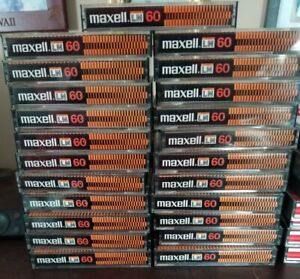 Vintage MAXELL LN60  CASSETTE TAPES Lot of 23