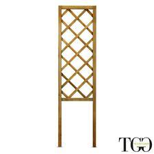 Grigliato in legno Arcadia color castagno con maglia diagonale 48 x 180 cm