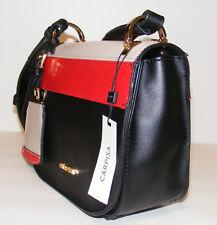 Carpisa Crossbody Purse Small Faux Leather Wide Shoulder Strap Multi-Color