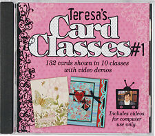 TERESA'S CARD CLASSES #1 DVD-Cardmaking/Making-Greeting Cards-Paper Craft Ideas