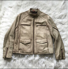 GUESS FLEECE LINED TEXTURED LEATHER JACKET