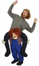 Piggy back Fancy Dress-Adulti Childs Play Chucky Costume Di Halloween