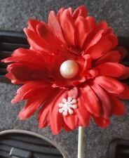 Red VW flower  Gerbera pearl & snowflake VW Beetle SEE OUR WHOLE RANGE