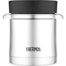 Thermos comida de acero inoxidable 12 oz frasco con resistente Al Microondas Contenedor-Plateado/Negro