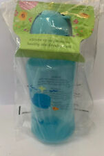 Green Sprouts Straw Bottle w/Extra Sipper 10oz 9m+ - Blue
