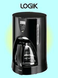 Logik Filter Coffee Maker - Digital Display with 24 Hour Timer- Black - L12DCB17