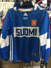 2016 World Cup of Hockey Team Finland Adidas Jersey Replica Small Ladies Women