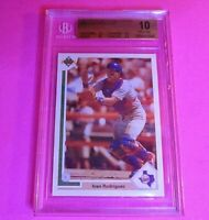 Ivan Rodriguez 1991 Upper Deck Final Edition #55F Rookie BGS 10 PRISTINE! Rare!