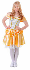 Teenage Belle Fairy Tale Costume One Size Up To 15 Years Fancy Dress