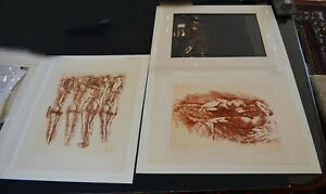 A pair of pencil signed Herbert Fink lithographs of Nudes