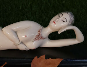 Antique Chinese Doctors Lady Model Nude Exotic Figurine