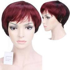 Fashion Indian Remy Human Hair Full Wig Short Pixie Bob Style Daily Dress Black