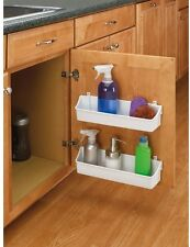 Rev-A-Shelf White Cabinet Door Mount 2-Shelf Storage Bin Home Kitchen Organizer
