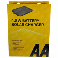 AA 4.8W 12V Car Van Caravan Solar Panel Trickle Battery Charger Power Supply